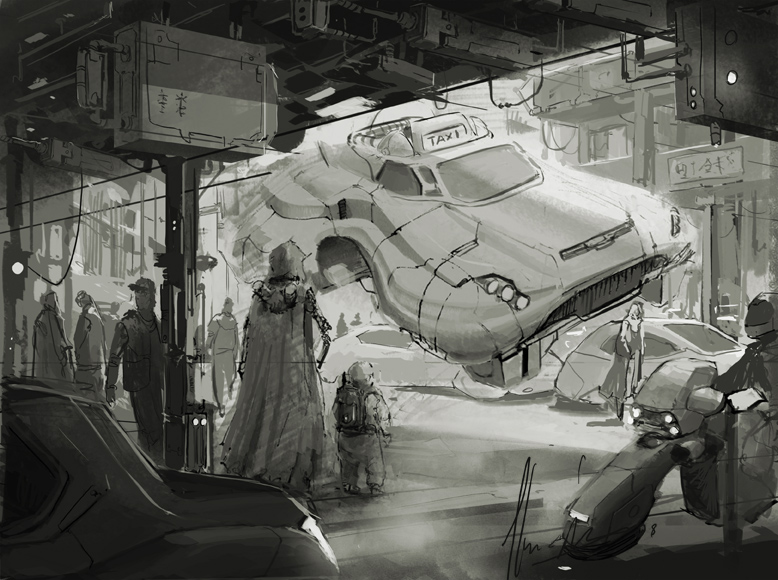 taxi sketch by neisbeis