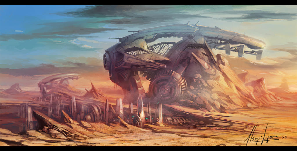 city desert concept by neisbeis