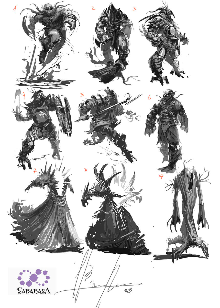 creatures thumbnails by neisbeis