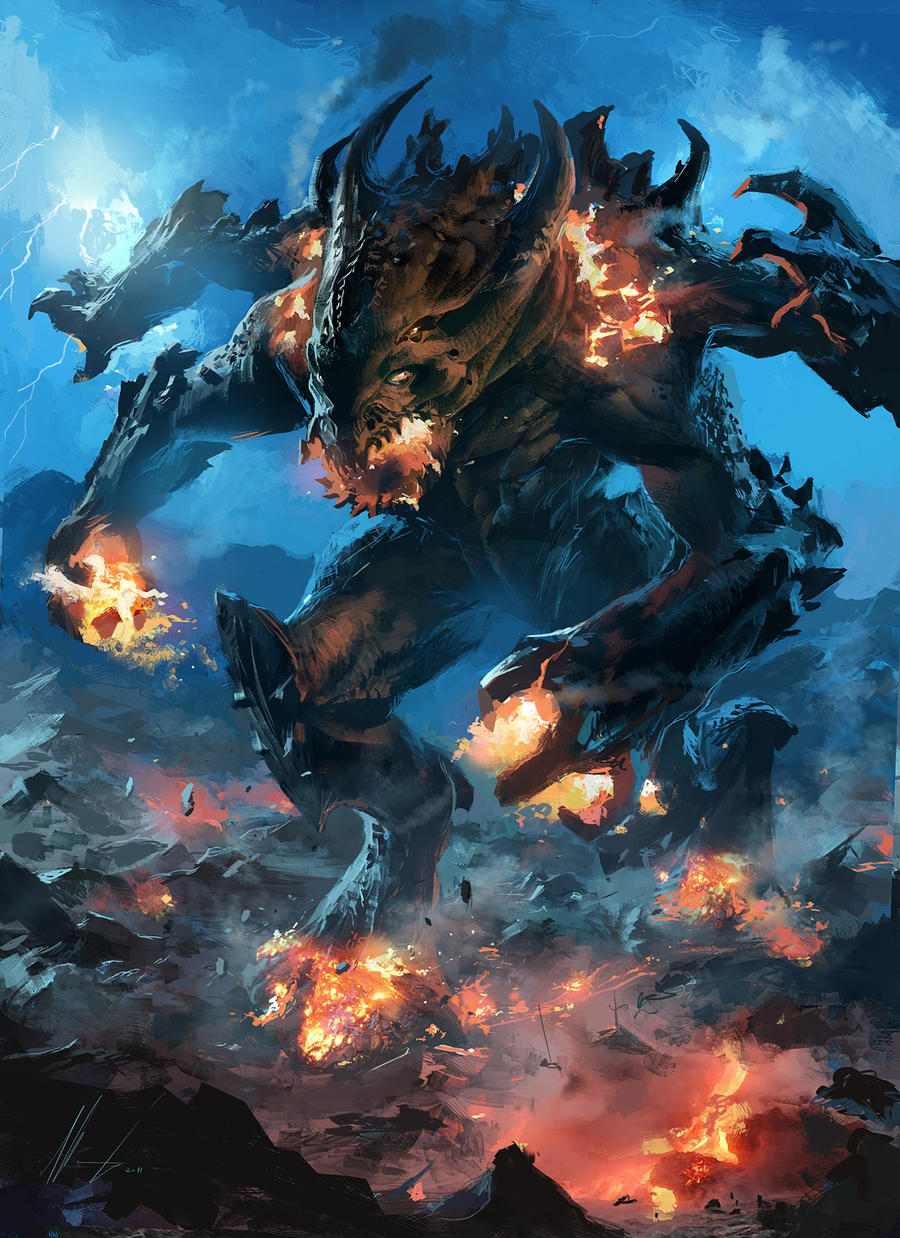 fire lava Colossus