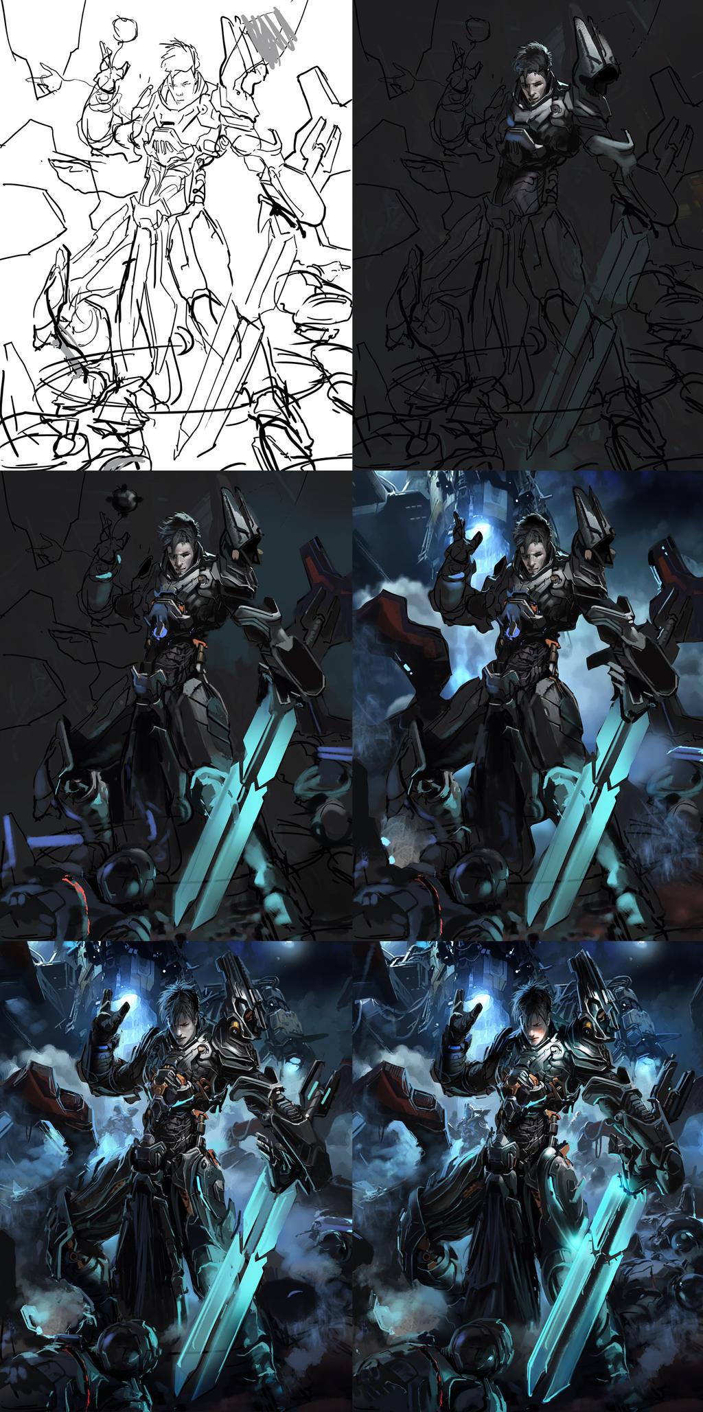 Legendary Lixi Knight regular steps by neisbeis
