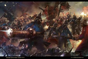 Epic battle Von Fisher Saga by neisbeis
