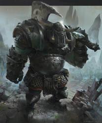 Orc warhammer fan art