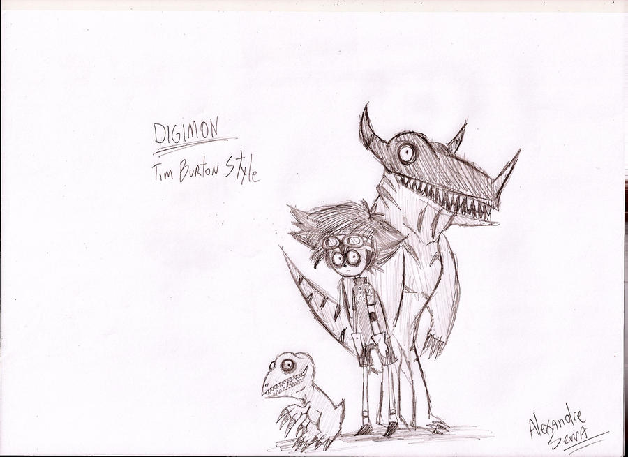 Digimon Tim Burton by AlexandreSerra