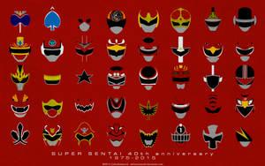 Super Sentai 40th Anniversary Wallpaper by CalicoStonewolf