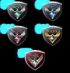 Pokken Tournament League Crests by CalicoStonewolf