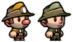 Sprite Edit: Lemeza from La-Mulana in Spelunky by CalicoStonewolf