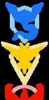 Pokemon GO Teams (Vector) by CalicoStonewolf