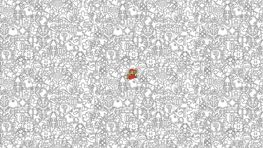 Mario Pattern (1080p) by CalicoStonewolf