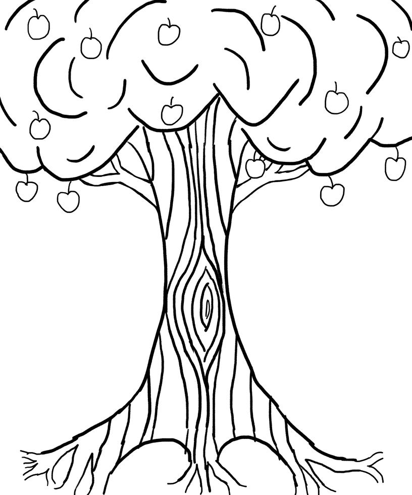 practice  1  apple tree   wip 1  by dalekfire on deviantart
