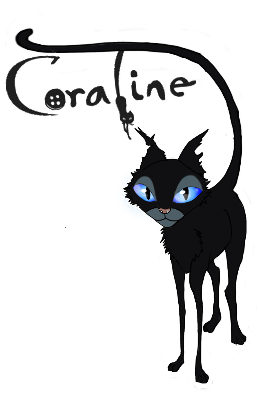 Coraline's cat by sensei95 on DeviantArt
