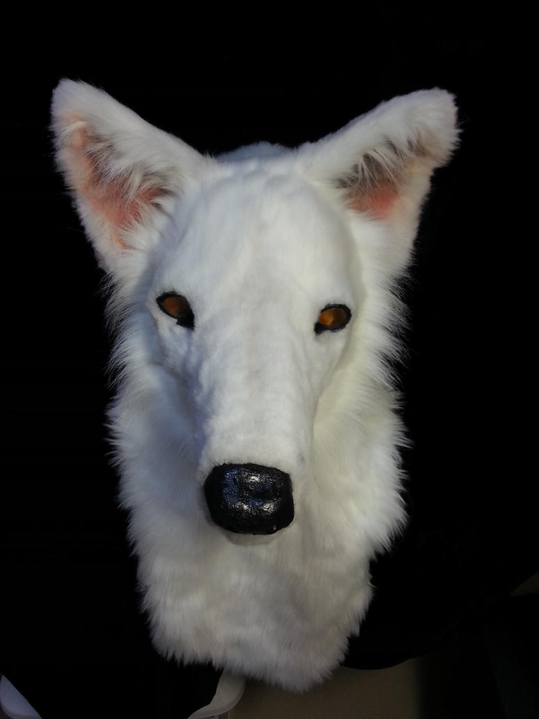 White Cat Head Mask