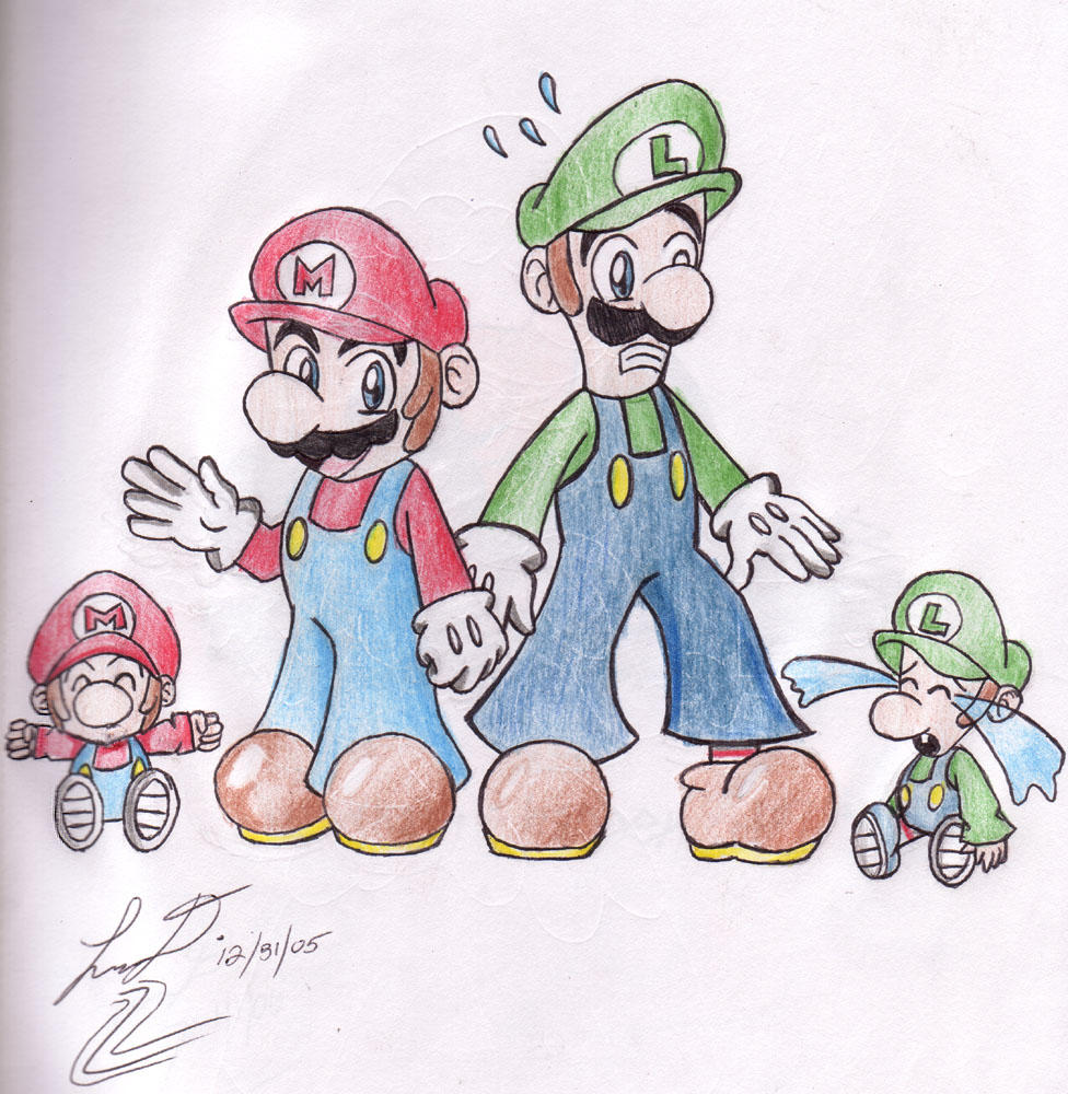 Images Of Baby Mario And Luigi Drawings Industrious Info