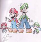 Mario, Luigi, and the babies