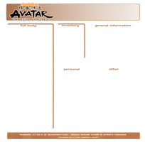 Avatar: LoK [ character template ] by isi-a