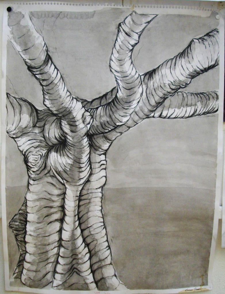 Contour Line Drawing Ink : Cross contour tree by kat the storkin on deviantart