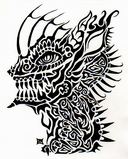 tribal hellhound by lutamesta on deviantart. Black Bedroom Furniture Sets. Home Design Ideas