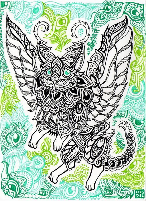 Winged Cat 2 By Lutamesta On DeviantArt