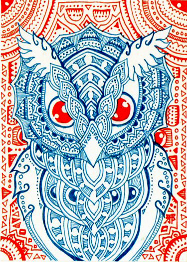 ACEO:Holy Owl by lutamesta