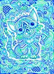 Mint Blue Kitten by lutamesta