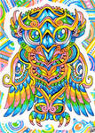 ACEO:Psychedelic Owl