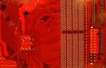 TextureX Motherboard Circut Red Stock Tech Texture