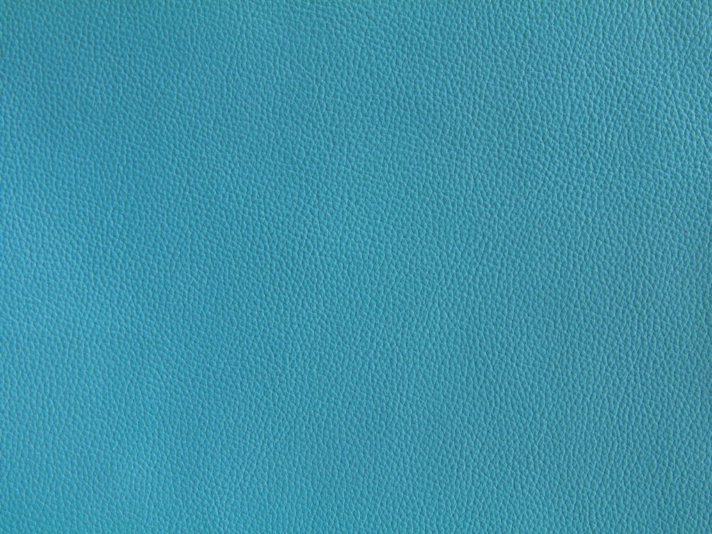 Teal Leather Texture Bright Blue Design Fabric
