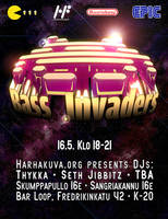 Bass Invaders -flyer by Thykka