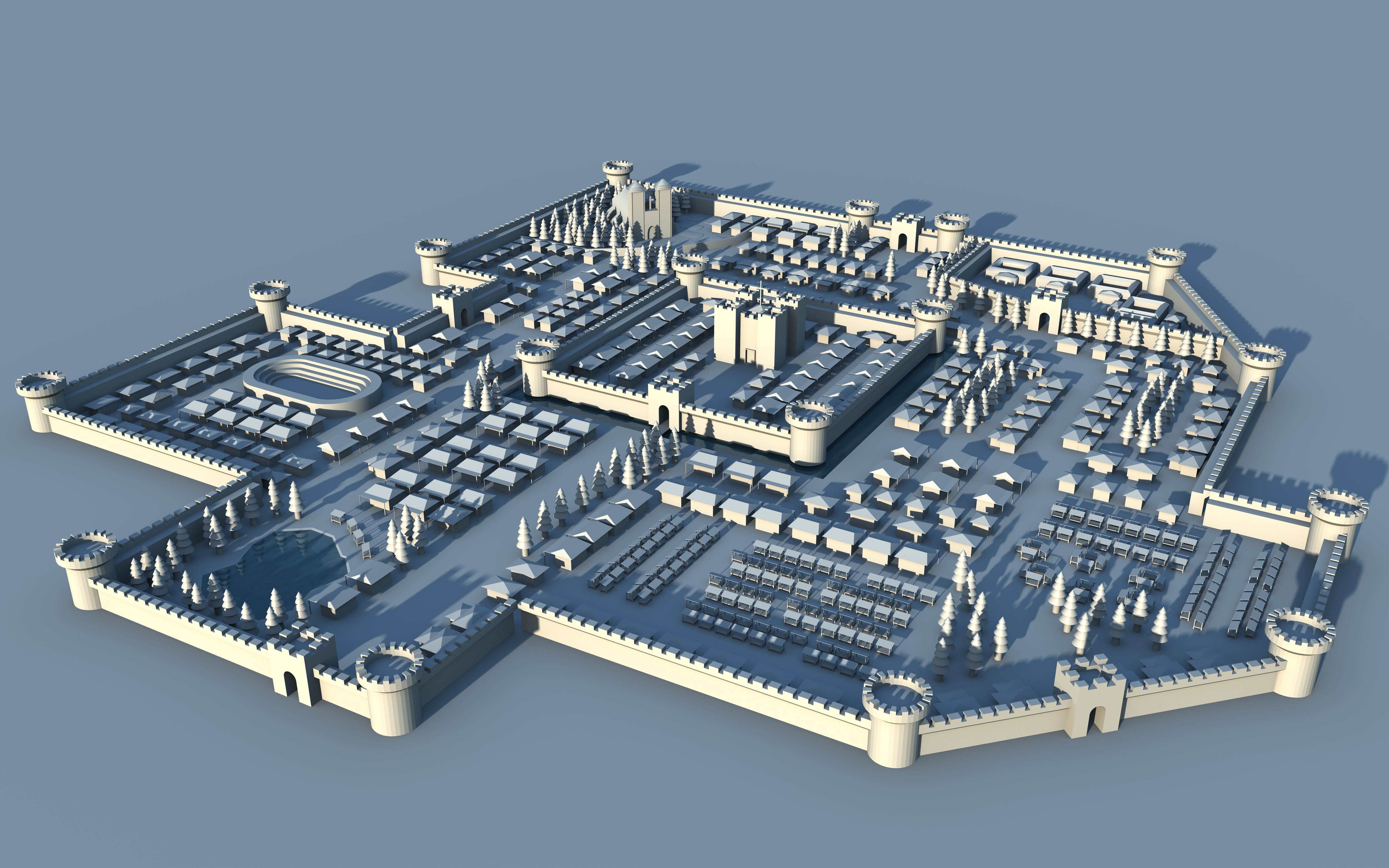 Medieval city 3d map by cr8g