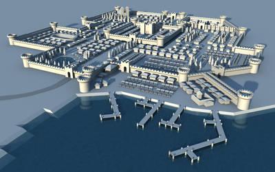 Medieval city of Gwentar by cr8g