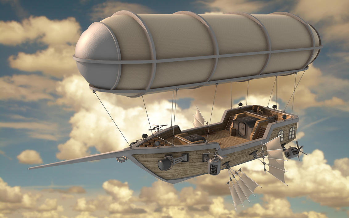 Scarlett's Pride Airship by cr8g