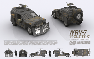 WRV-7 MOLOTOK - Wasteland Ranger Vehicle by cr8g