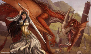 Maiden vs. Dragon by BrentWoodside