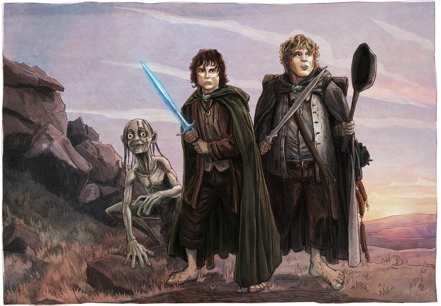 Lord Of The Rings Frodo And Sam Vs Gollum