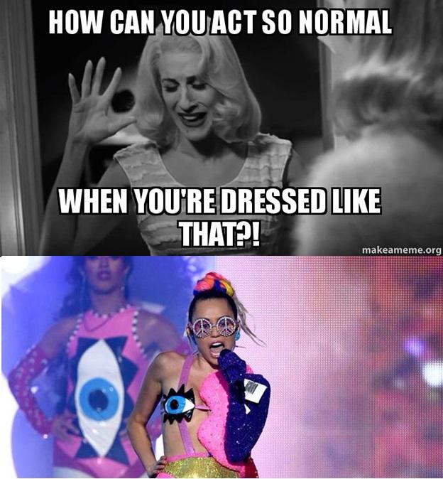 Miley Cyrus VMA Meme by unusedusername111