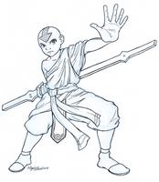 Avatar Aang - Inked by AmiraElizabeth