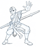 Avatar Aang - Inked