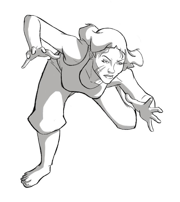 Lin - Action Pose by AmiraElizabeth