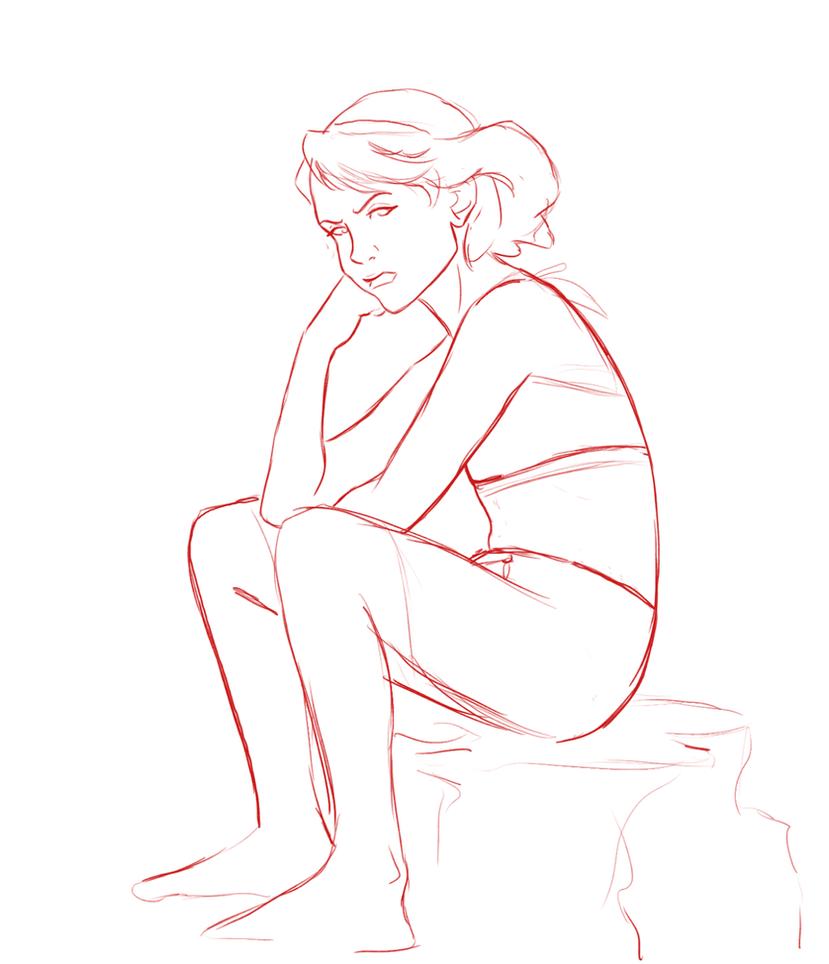Grumpy teen Lin by AmiraElizabeth