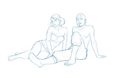 Young Tenzin and Lin on Vacation