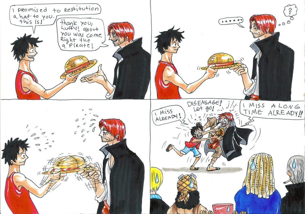 one piece  shanks and ...
