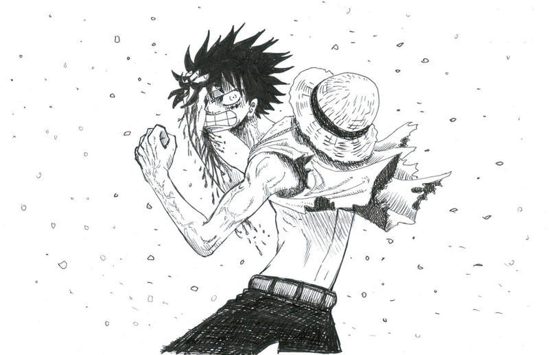 one piece angry luffy by heivais on deviantart