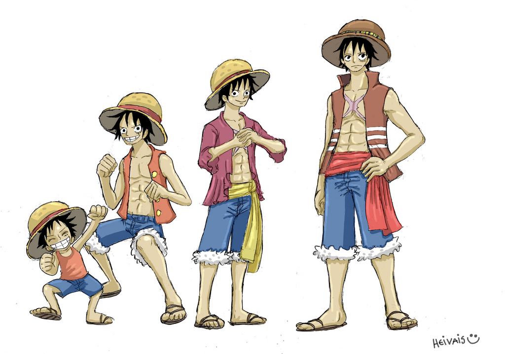 One piece  Luffy grow ...
