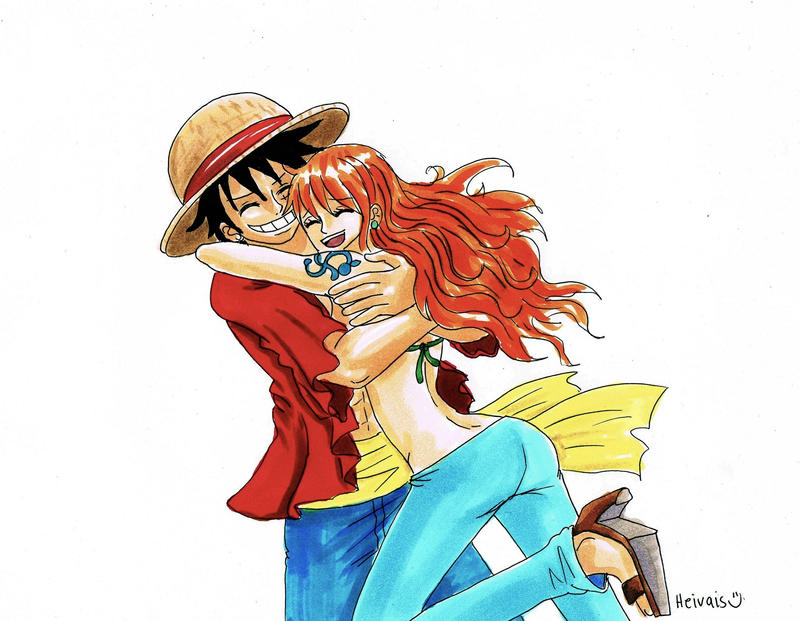One piece nami x luffy by heivais on deviantart - Luffy x nami 2 ans plus tard ...