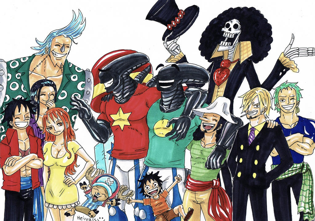 Aliens and Straw hats by heivais