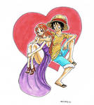 Luffy x Nami , The heart