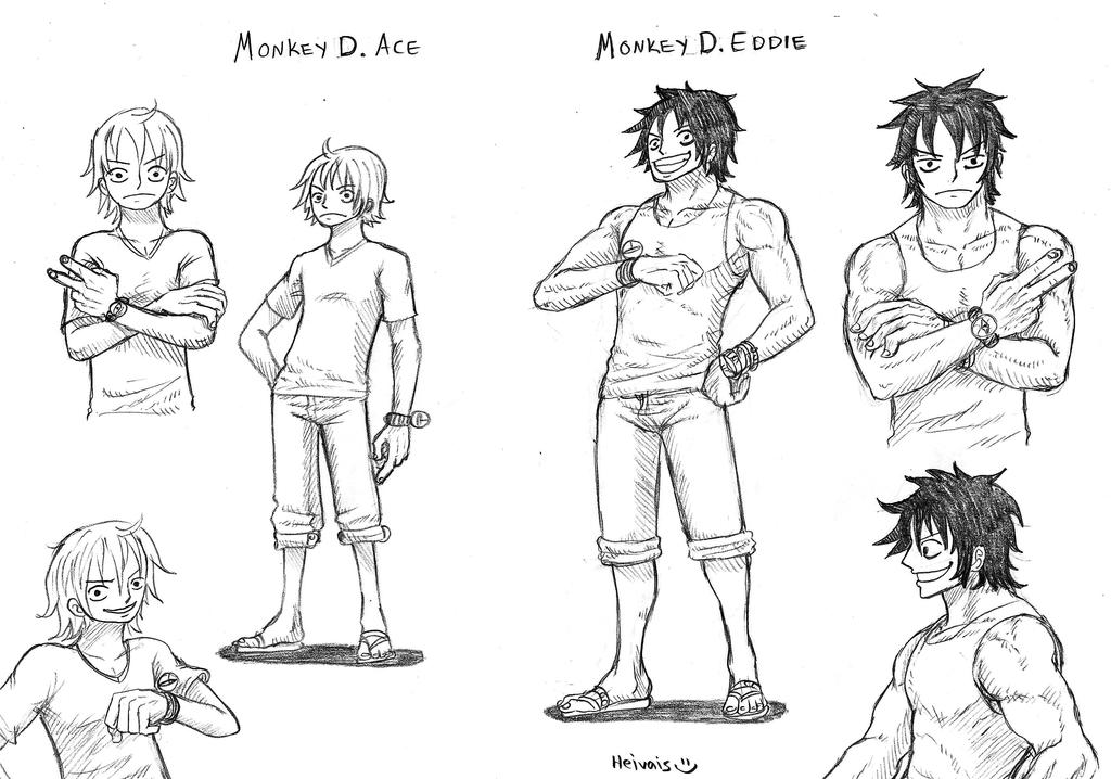 Brothers Eddie and Ace by heivais