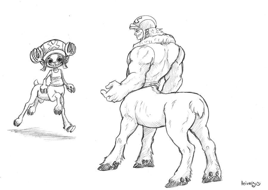 Reindeer centaur by heivais