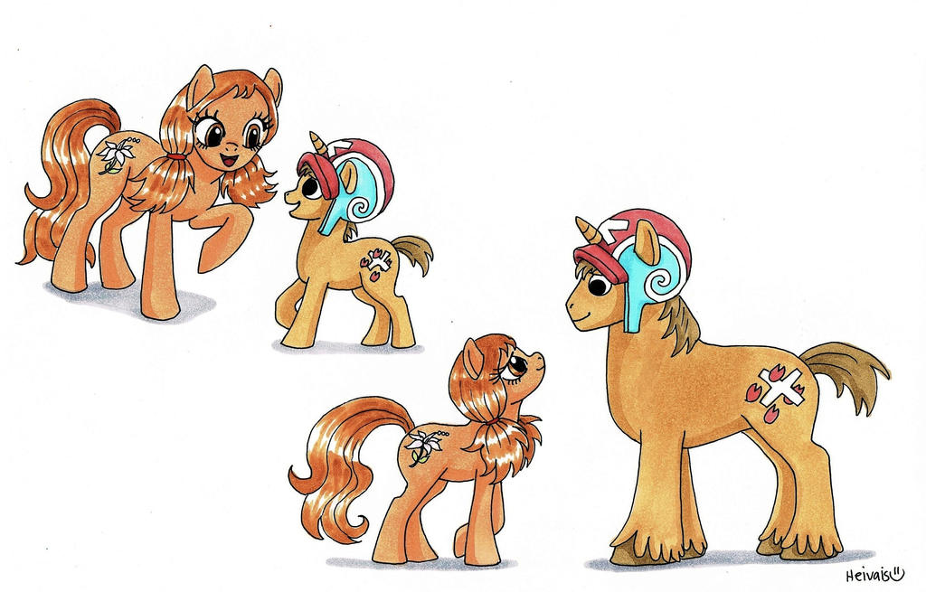 Chopper and Camilla, ponies by heivais
