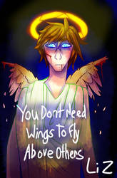 Fallen angel by LizMaureen
